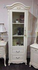 Белый Цветок шкаф книжный 1 дверный