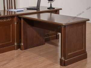 Элеганца стол приставной 2  орех с золотом