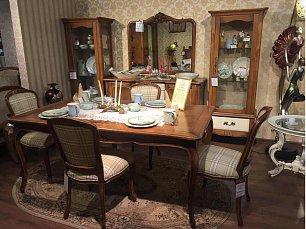 Кантри гостиная-столовая