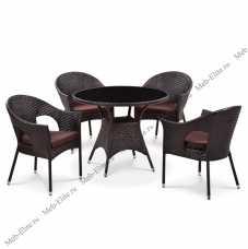 Комплект мебели (иск.ротанг) 4+1 T190B-1/ Y97B