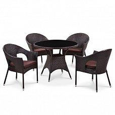 Комплект мебели 4+1 T190B-1/ Y97B иск. ротанг