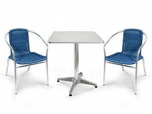 Комплект мебели 2+1 LFT-3199E/T3125-60x60 Blue 2Pcs алюминий