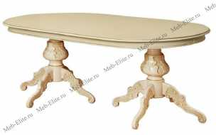 Стелла стол обеденный раскладной (без резьбы) 200/275х100 (Бостон-4)
