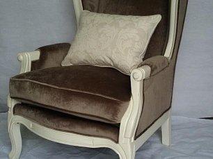 Белая роза кресло каминное DF830 white chocolate M01
