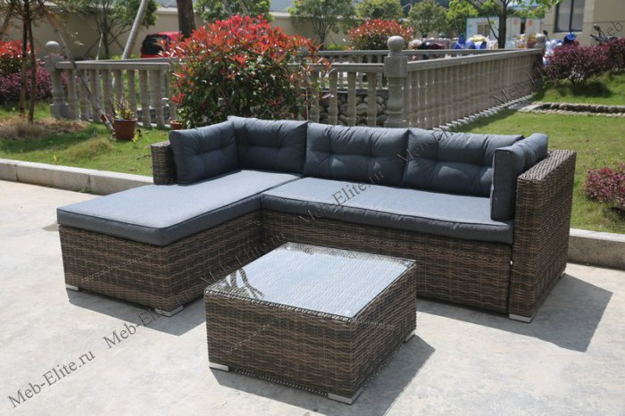 Комплект мебели AFM-302 Brown/Grey иск. ротанг