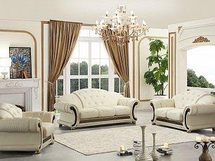 Версаче мягкая мебель 3+2+1 белый