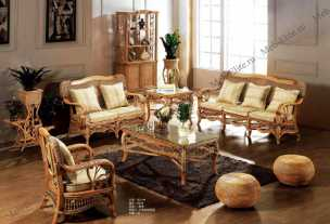 Мик ротанг комплект MK-3451: 3 местный диван + 2 кресла + чайный столик (МК-3410)