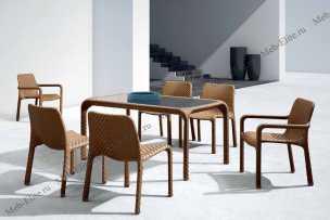 Ротанг Турин комплект:стол обеденный 150х90+4 полукресла