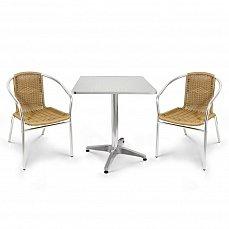 Комплект мебели 2+1 LFT-3099A/T3125-60x60 Cappuccino 2Pcs алюминий