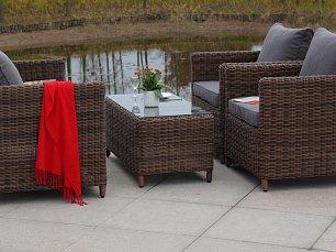 Макиато комплект: 2 местный диван + 2 кресла + журнальный стол иск. ротанг
