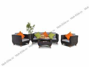 Ротанг Нола комплект:диван 3 местный+стол кофейный+2 кресла