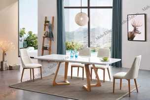 ЕСФ столовая комплект: стол обеденный 160/220х90 T1692 + стулья Y1685 4 шт.