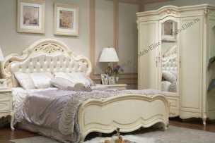 Милано (Фиора) кровать 180х200 8802-С (кристаллы)