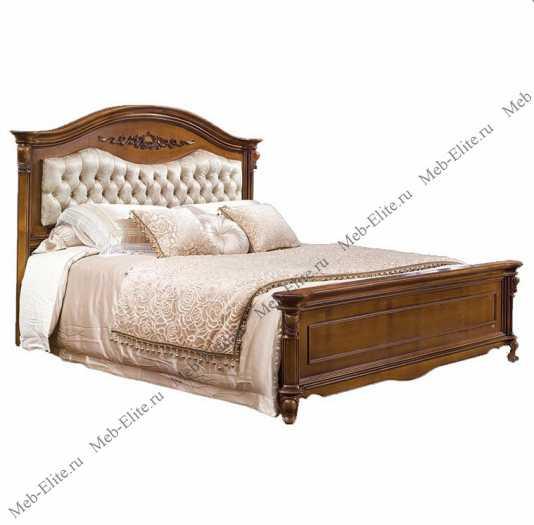 Карпентер 230-1 кровать с изогнутым изголовьем A c основанием 160×200 (ткань)