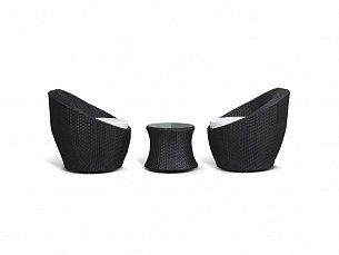Туллон комплект: 2 кресла+столик журнальный иск. ротанг