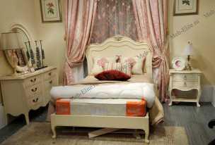 Луи 15 (Louis XV) кровать 120х190 вайт
