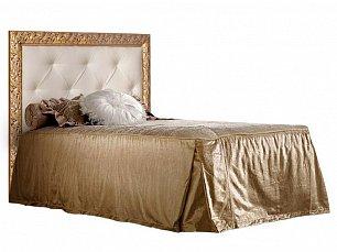 Тиффани кровать 120х200 с мягким элементом штрих-золото