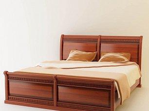 Милан 61 кровать 180х200 орех