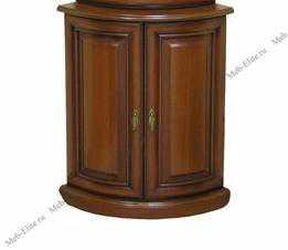 Милан шкаф 2-дверный для посуды угловой глухой 4 орех