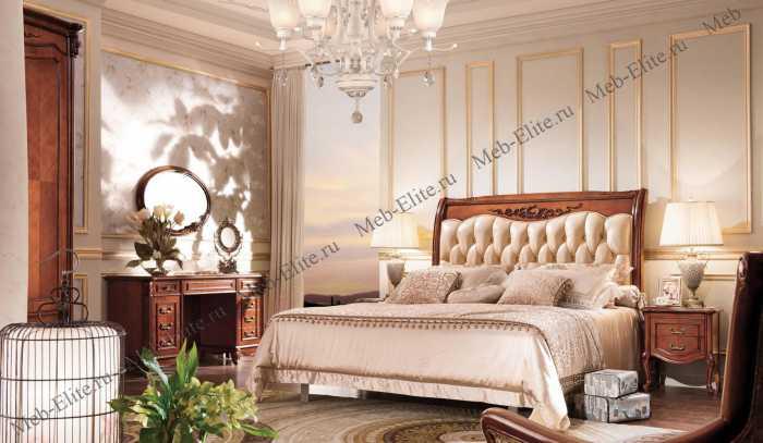Карпентер 230-1 кровать с прямым изголовьем A c основанием 160×200 (кожа)