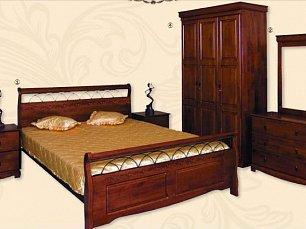 Агата кровать 90х200 орех