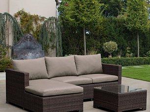 Комплект мебели AFM-4025B Brown иск. ротанг