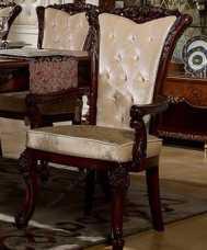 Роял стул с подлокотниками орех+золото
