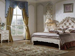 Виттория спальня комплект: кровать 180х200 + 2 тумбы прикроватные + туалетный столик с зеркалом + шкаф 4 дверный