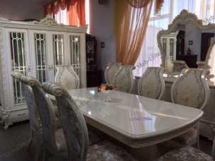 Эмилия SJ-6 столовая комплект: витрина 3дверная+комод с/з+стол обеденный