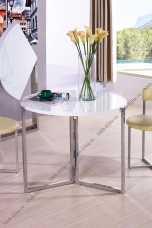 Мик стол обеденный 90х90 MK-5903-BW круглый