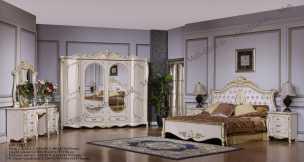 Венеция 3282 спальня комплект: кровать 180, тумба - 2 шт., стол туал., шкаф 6-ти дв