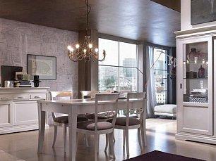 Гран Дама гостиная-столовая белая