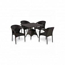 Комплект мебели 4+1 T190BD/Y290B-W52 Brown 4Pcs иск. ротанг