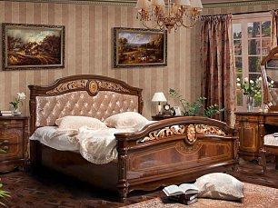 Афина спальня  комплект: кровать 180х200+2 тумбы прикроватные+стол туалетный с зеркалом+шкаф 4 дверный