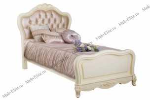 Белый Цветок кровать 120х200 8801А/8816 экокожа с пуговицами