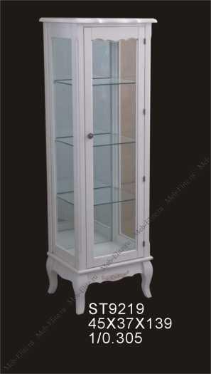 Бельведер витрина 1 дверная ST9219-R слоновая кость