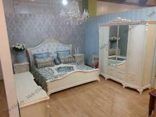 Анетта 1320 спальня комплект: кровать 160+туалетный стол с/з+2тумбы прикроватные+шкаф 4 дверный