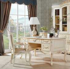 Милано комплект: стол письменный арт. MK-1862-IV + кресло арт.MK-1864-IV