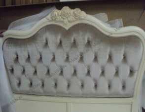 Белый Цветок кровать 180х200 8801А/8812 велюр