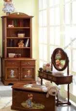 Французкие мотивы шкаф-стеллаж 2 двери детский (орех)