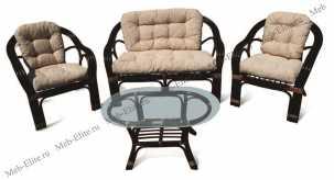 Маркос комплект: диван + столик + 2 кресла