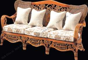 Ротанг Элизабет 3 местный диван