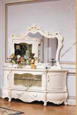 Мона Лиза комод с зеркалом  белый