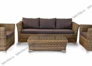 Ротанг Больцано 3 местный диван