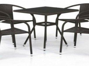 Комплект мебели 4+1 T282BNS/Y137C-W53 Brown 4Pcs иск. ротанг