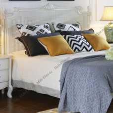 Нуар Бланк кровать 160х200 DF 864-18 ротанг, слоновая кость