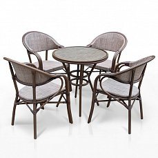 Комплект мебели 4+1 А1007- D2003-4PCS иск. ротанг