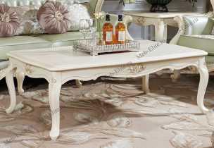 Белый Цветок стол журнальный 145х90 (long)