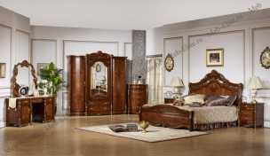 Патриция спальня комплект: кровать 180, тумба - 2 шт., стол туал., шкаф 4-х дв.)