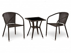 Комплект мебели  2+1 T25A/Y137C-W53 Brown 2Pcs иск. ротанг